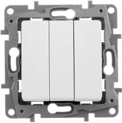 Выключатель трехклавишный Etika (белая) 672213