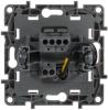 Выключатель-переключатель Etika одноклавишный с подсветкой (алюминий)  672415
