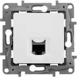 Компьютерная розетка RJ45 Etika 5 кат (белая)