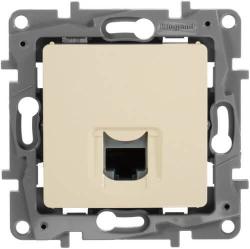 Компьютерная розетка RJ45 Etika 5 кат (слоновая кость)