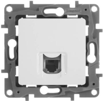Телефонная розетка RJ11 Etika (белая) 672240