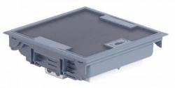 Лючок напольный 12 модулей с регулируемой глубиной 75-105 мм (серый)