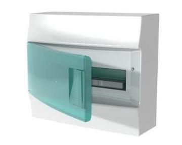 Бокс настенный ABB Mistral41 на 12 мод. зеленая дверца (без клемм) 1SPE007717F0420