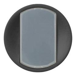 Лицевая панель Legrand Celiane для выключателя или переключателя с кольцевой подсветкой (графит) 065204