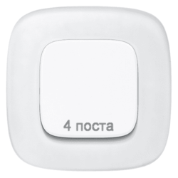 Рамка четырехместная Valena Allure (Белое стекло) 755544
