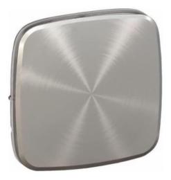 Лицевая панель Legrand Valena Allure для выключателя и переключателя (светлая сталь)