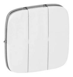 Лицевая панель Legrand Valena Allure для трехклавишного выключателя (белая) 755035