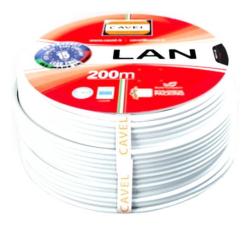 Кабель витая пара (FTP), 4 пары, категория 6е с экраном Cavel (Италия) LAN 641