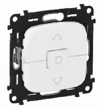 Кнопка-выключатель для рольставней Valena Allure (белый) 752030+755145