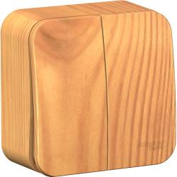 Выключатель 2кл Blanca О/У 10А с изолир. пластиной (ясень) BLNVA105015
