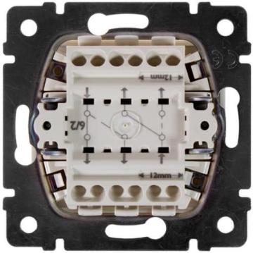 Проходной двухклавишный переключатель Valena (белый) 774408