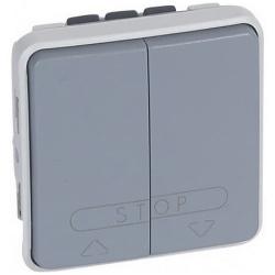 Выключатель для управления приводами с ЭБУ Plexo IP55 (серый) 069539