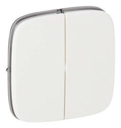 Лицевая панель Legrand Valena Allure для двухклавишного выключателя и переключателя (белая) 755025