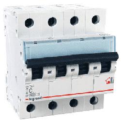 Автоматический выключатель TX3 4-полюсный 10A 404068