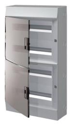 Бокс настенный ABB Mistral41 на 72 мод. прозрачная дверца (с шиной) 1SPE007717F9999