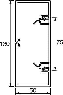 Кабель-канал 130x50 мм Metra 638082