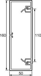 Кабель-канал 160x50 мм Metra
