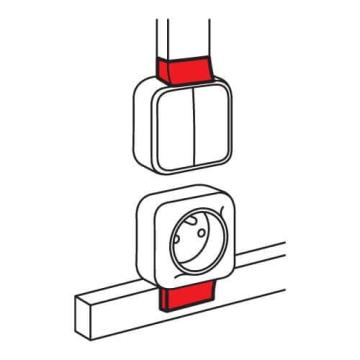 Адаптер Quteo для кабель канала 20x12 мм Metra 638117