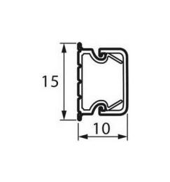 Мини кабель-канал 15x10 мм Metra 638190