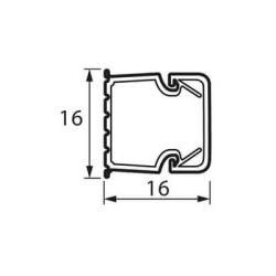 Мини кабель-канал 16x16 мм Metra 638191