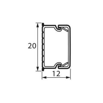 Мини кабель-канал 20x12 мм Metra