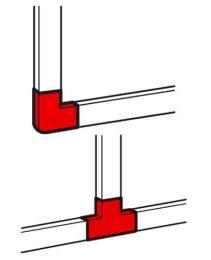 Угол плоский/тройник 60x40 мм Metra 638199