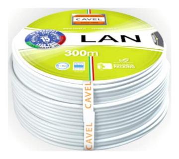 Артикул: LAN 541, Кабель витая пара (FTP), 4 пары, категория 5е с экраном Cavel (Италия)