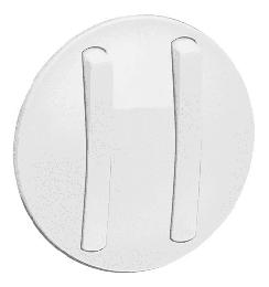 Лицевая панель Legrand Celiane для тонкого двухклавишного выключателя (белая) 065002
