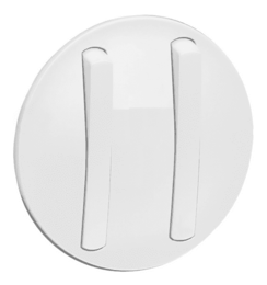 Лицевая панель Legrand Celiane для тонкого двухклавишного выключателя (белая)