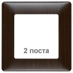Рамка двухместная Valena Life (темное дерево) 754172