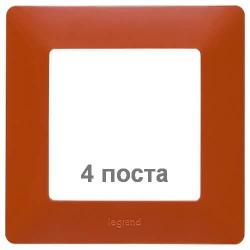 Рамка четырехместная Valena Life (терракота) 754074