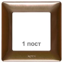 Рамка одноместная Valena Life (медь) 754161
