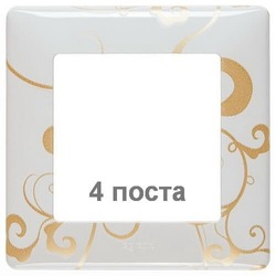 Рамка четырехместная Valena Life (ампир белый) 754104