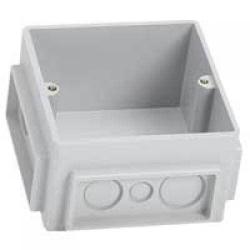 Монтажная коробка для лючков 3 модуля пластик 650390