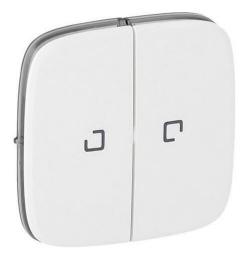 Лицевая панель Legrand Valena Allure для двухклавишного выключателя и переключателя с подсветкой (белая) 755225