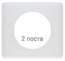Рамка двухместная Celiane (белый глянец) 066632