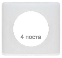Рамка четырехместная Celiane (белый глянец)