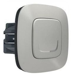 Умный проводной выключатель-светорегулятор 5-300 Вт Valena Allure Netatmo (алюминий) 752784