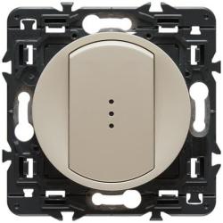 Выключатель кнопочный с подсветкой Celiane (слоновая. кость)