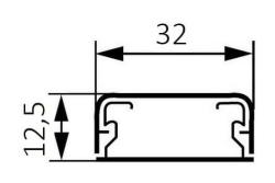 Миниплинтус DLPlus 32x12,5мм. без перегородки 2,1м (белый)