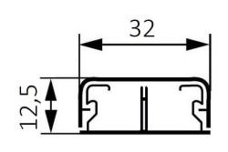 Миниплинтус DLPlus 32x12,5мм. с перегородкой 2,1м (белый)