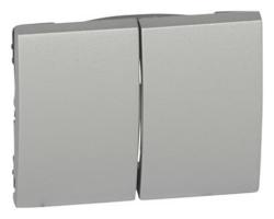 Лицевая панель Galea Life для двухклавишного выключателя и переключателя (алюминий) 771312