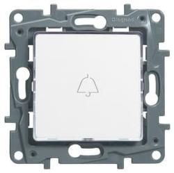 Кнопка Etika Plus с подсветкой (белая) 672210
