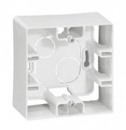 Коробка для накладного монтажа Etika 1-ая (белая) 672510