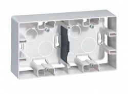 Коробка для накладного монтажа Etika 2-ая (белая) 672530