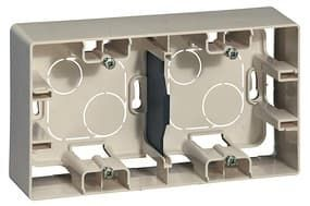 Коробка для накладного монтажа Etika 2-ая (слоновая кость) 672540