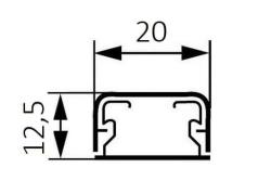 Миниплинтус DLPlus 20x12,5мм. без перегородки 2,1м (белый)