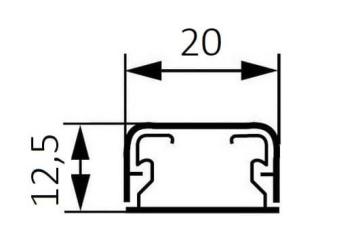 Артикул: 030008, Миниплинтус DLPlus 20x12,5мм. без перегородки 2,1м (белый)