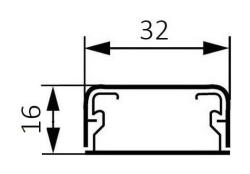 Миниплинтус DLPlus 32x16мм. без перегородки 2,1м (белый)