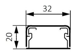 Миниплинтус DLPlus 32x20мм. без перегородки 2,1м (белый)